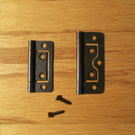 No Mortise Bronze Plated Hinges