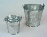 Metal Buckets, Cans, Tubs