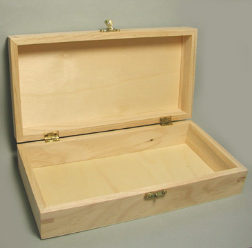 "9-3/4"" Hinged Wooden Boxes"