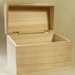 "More about the '4-1/2"" Hinged Wood Recipe Boxes' product"