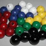 "More about the '1/2"" Painted White Round Wooden Beads' product"