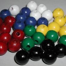 "1/2"" Painted Black Round Wooden Beads"