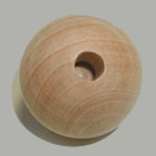 "More about the '1-1/4"" Wooden Dowel Caps, 1/4"" Hole' product"