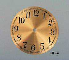 "Clocks-6"" Gold Dials"