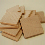 "More about the 'Square Wooden Discs, 1"" x 1/8""' product"
