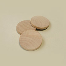 "Wooden Discs, 1-1/2"" Dia. x 3/16"" Thick"