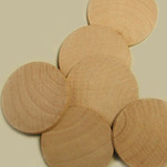 "More about the 'Wooden Discs, 1-3/4"" Dia. x 3/16"" Thick' product"