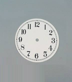 "Clocks-6"" White Dials"