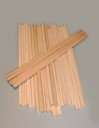 "1"" x 12""  Birch Dowels"
