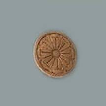 Round Wood Embossed Carving