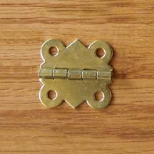 "1-3/16"" Brass Plated Hinges"