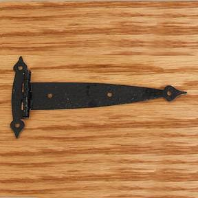 "6-1/2"" Black Hammered Strap Hinges"