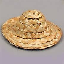 "3"" Natural Straw Hats"