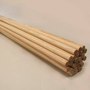 "1/4""   X 36""  Oak Dowels"