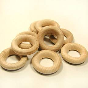 "1-1/2"" Wooden Rings-Game Pieces"