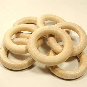 "2-1/2"" Wooden Rings-Game Pieces"