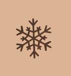 "More about the '3-3/8"" Rusty Snowflakes' product"