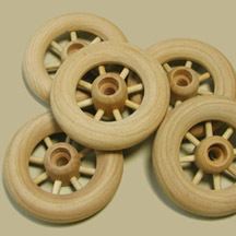 "2-1/4"" Spoked Wheels"