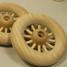 "4-1/4"" Spoked Wheels"