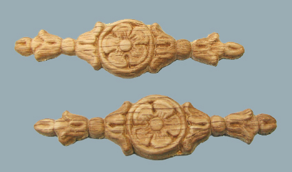 "3-1/2"" Oak Embossed Wood Carvings"
