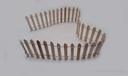 "2-1/8"" Unfinished Picket Fence"
